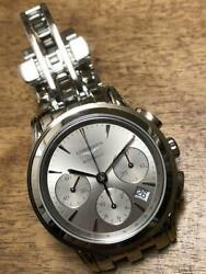 Longines Flagship Chronograph L48034726 Menand039s Watch Swiss Made Near Mint