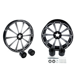 21 Front 18and039and039 Rear Wheel Rim + Disc Hub Fit For Harley Touring 2008-2021 2019