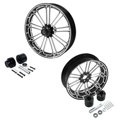 21and039and039 Front Wheel Rim Hub 18and039and039 Rear Set Fit For Harley Road Electra Glide 08-21