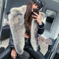 Natural Real Fur Coat Sheep Leather Whole Skin Fur Coats Jacket Outwear