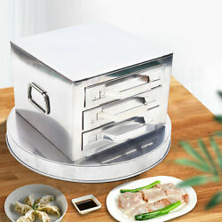3-layer 23cm Steamer Drawers Rice Noodle Roll Food Steaming Machine+scraper Tray