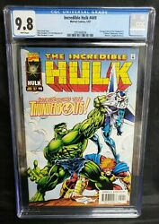 Incredible Hulk 449 1st Appearance Of Thunderbolts Cgc 9.8 Nm/mt Marvel 1997