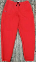 Nwt Nike Therma Dri Fit Heavy Sweat Jogger Pants Ci4461-657 Red Mens Size Large