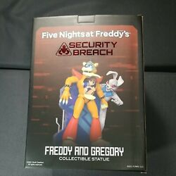 Five Nights At Freddy, Freddy And Gregory Collectible Statue 12 Inches Tall