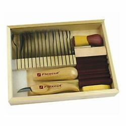 Flexcut Sk108 Deluxe Starter Carving Set With 16 Carving Blades Cutting Knife