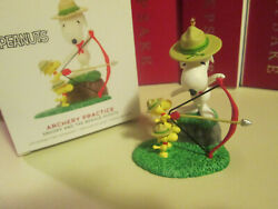 Archery Practice Peanuts Snoopy and the Beagle Scouts Hallmark Ornament 2019