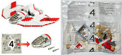 Lego 7931 T-6 Jedi Shuttle 2011 -- New Sealed Bag 4 Only -- Star Wars Clone