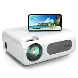 Projector, Bosnas Wifi Bluetooth Projector 8500l Full Hd Video Projector Native