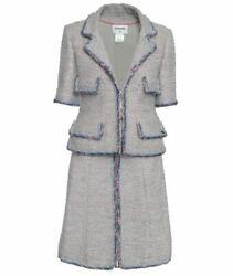 Tweed Woman Jacket And Skirt Suit