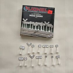 Lionel Lionelville Set Of 14 Road Signs O And 027 Gauge Trains Building 6-2180