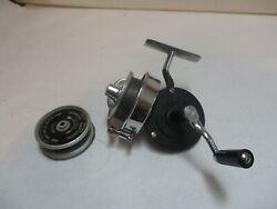 Vintage Airex Bache Brown Model 2 Mastereel W/ Spare Spool - Half Bail Style