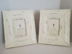 Set Of 2 Pottery Barn Kids Beige Barn Wood Farmhouse Style 4 X 6 Picture Frames