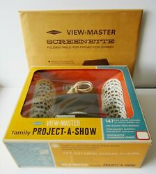 Sawyers View-master Project-a-show 21 Reels Viewer Projector + Screen New In Box