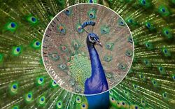 2015 Peacock - Magnificent Life 1 Oz 999 Silver Proof Coin 5 Cook Islands