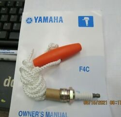 New Oem Yamaha Outboard Owners Manual ,spark Plug,emergency Start Rope F4c