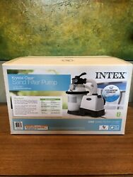 New Intex 1200 Gph Sand Filter Pump For Above Ground Pools With Automatic Timer