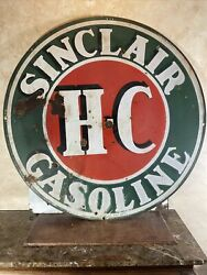 Large Original And Authentic ''sinclair'' 48 Inch Double Sided Porcelain Sign