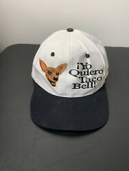 Vintage 90s Yo Quiero Taco Bell Chihuahua Dog Embroidered Cap Hat Snapback Kc