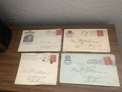 Rare Red George Washington 2 Cent 1900 U.s. Postage Stamp And Envelopes