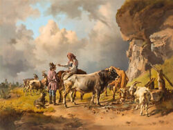 High Quality Oil Painting Handpainted On Canvas Russian Shepherds