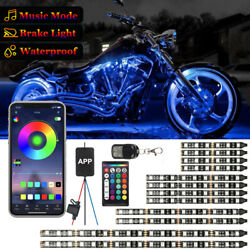 For Universal Harle 12pcs Motorcycle Rgb Led Neon Glow Lights Strip App Control