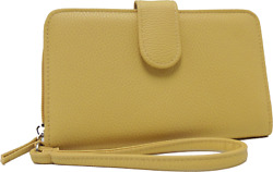 WALLET Mundi Women ALL IN ONE Faux Leather Cards Ladies RFID Clutch Yellow b671X $18.97