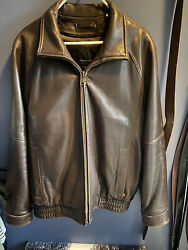 Wilson's brown leather jacket mens Size Large Removable Thinsulate Liner
