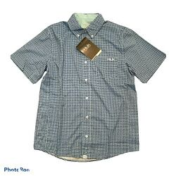 Huk Santiago Short Sleeve, Lasalle Navy, Men's Small New With Tags