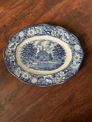 Liberty Blue England 12 Oval Platter Governors House Williamsburg Staffordshire