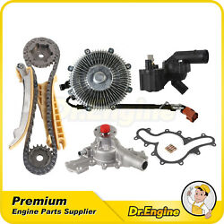 Timing Chain Kit Water Pump W/fan Clutch Thermostat Assembly Fit 07-10 Ford 4.0l