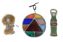 Lot Of Stained Glass Home Decor Wall Hanging Bottle Opener Cola Eskimo