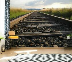 3d Railroad Track Zhua16040 Wallpaper Wall Murals Removable Self-adhesive Amy