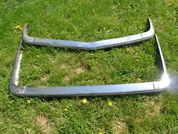 Bmw E21 Euro Front And Rear Chrome Bumper Set Oem 1979–1982 3 Series