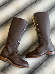 Red Wing Shoes Gloria Tall Boots In Mahogany Oro-iginal Leather Womens Size 6