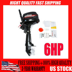 Used 6 Hp Outboard Motor Marine Boat Engine 2 Stroke Water Cooling Cdi