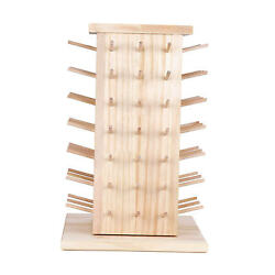 48 Spools Wooden Thread Holder Embroidery Organizer Sewing Rack For Earrings
