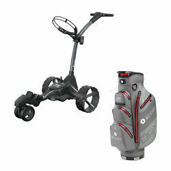 Motocaddy M7 Dhc 4 Wheel Golf Caddy Cart With Carrying Golf Club Cart Bag Red