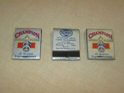 Vintage 1930's New-old Stock Champion Spark Plug And Sohio Matchbooks - Never Used