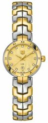 Brand New Tag Heuer Link Two-tone Diamond Womenand039s Watch Wat1451.bb0955 On Sale