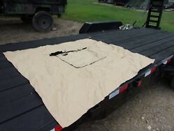 Military Surplus Tan Tent Wood Stove Jack Ring 5 By 6 Inches Vinyl Canvas Army