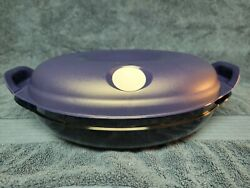Tupperware Heat N Serve Oval Microwave Container 4-3/4 Cups 5409a W Lid Seal