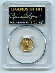 2021 5 American Gold Eagle Type 2 Pcgs Psa Ms70 Legends Of Life Rollie Fingers