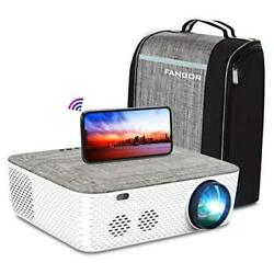 Wifi Projector Native 1080p Projector, 701 Video Projector White