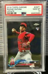 Psa 10 - 2018 Topps Chrome Update Shohei Ohtani Rc Hmt1 Angels Qty Available