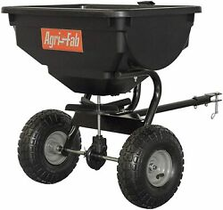 85 Lb Tow Behind Broadcast Spreader, Fertilizer Seed Atv Lawn Mower Tractor Pull