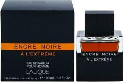 Encre Noire A Land039extreme By Lalique Cologne For Men Edp 3.3 / 3.4 Oz New In Box