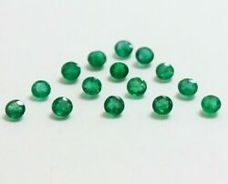 Aaa Quality Natural Round Cut, Zambian Emerald, Green, 1.5 Mm To 5.5mm, 968