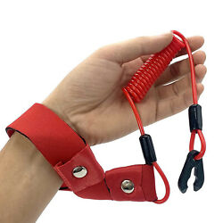 Red Engine Kill Stop Switch Key Lanyard Safety Tether For Yamaha Outboard