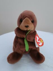 Ty Seaweed Beanie Baby Very Rare With Errors Perfect Condition