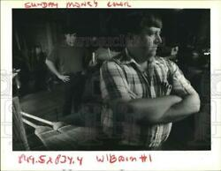 1992 Press Photo Billy And Donald Stachle Owners Of A Broom And Mop Business